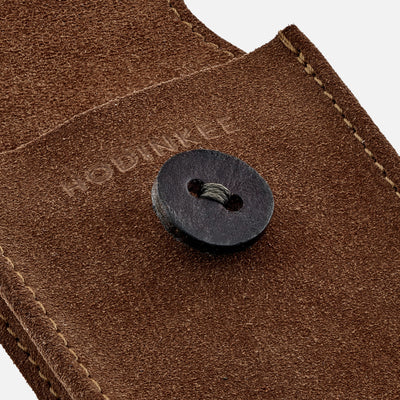 English Suede Watch Pouch In British Tan alternate image.