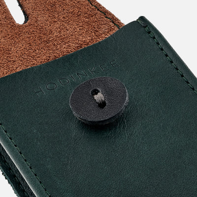 Soft Leather Mini Watch Pouch In Hunter Green alternate image.