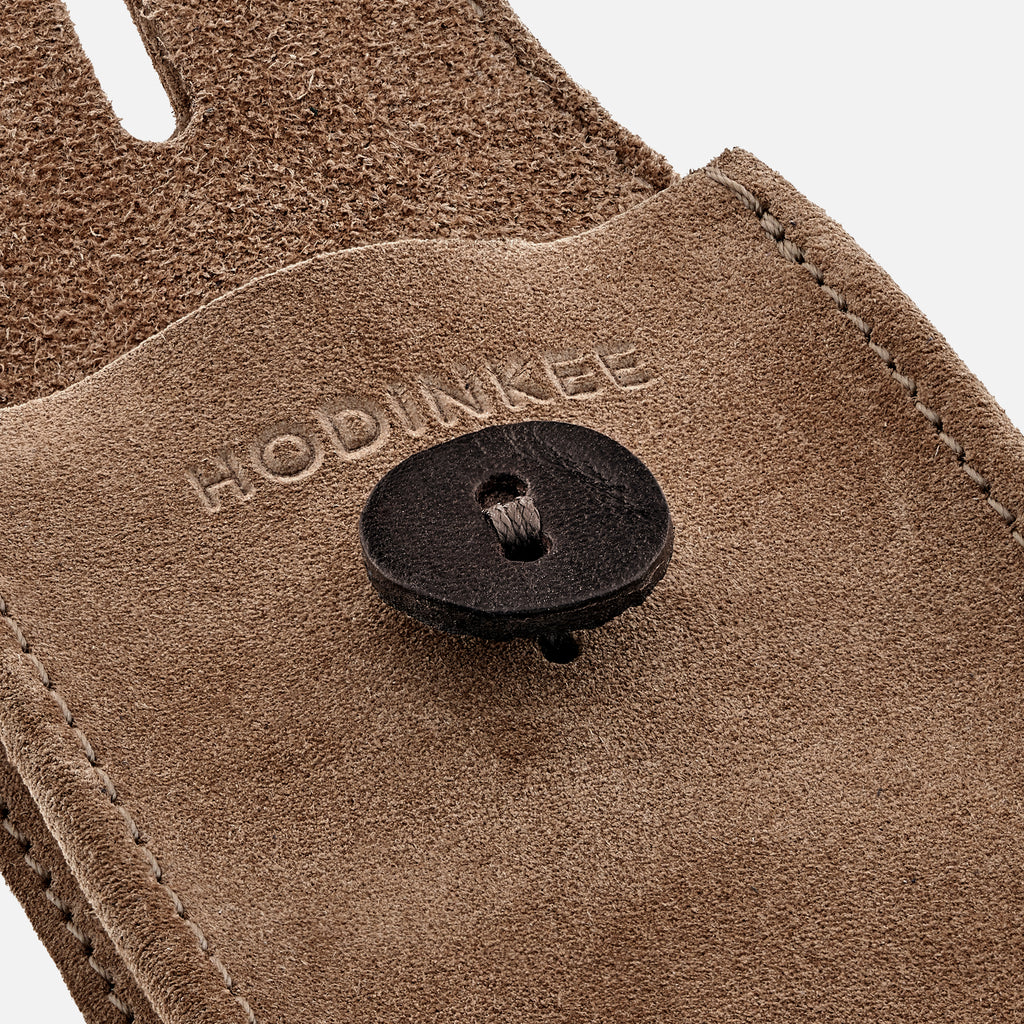 English Suede Mini Watch Pouch In Tan