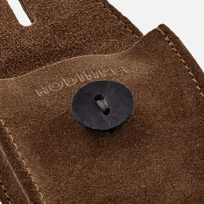 English Suede Mini Watch Pouch In British Tan alternate image.