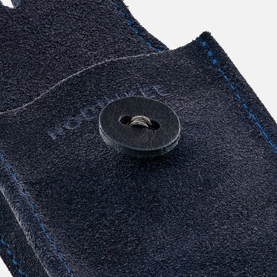 English Suede Watch Pouch In Navy alternate image.