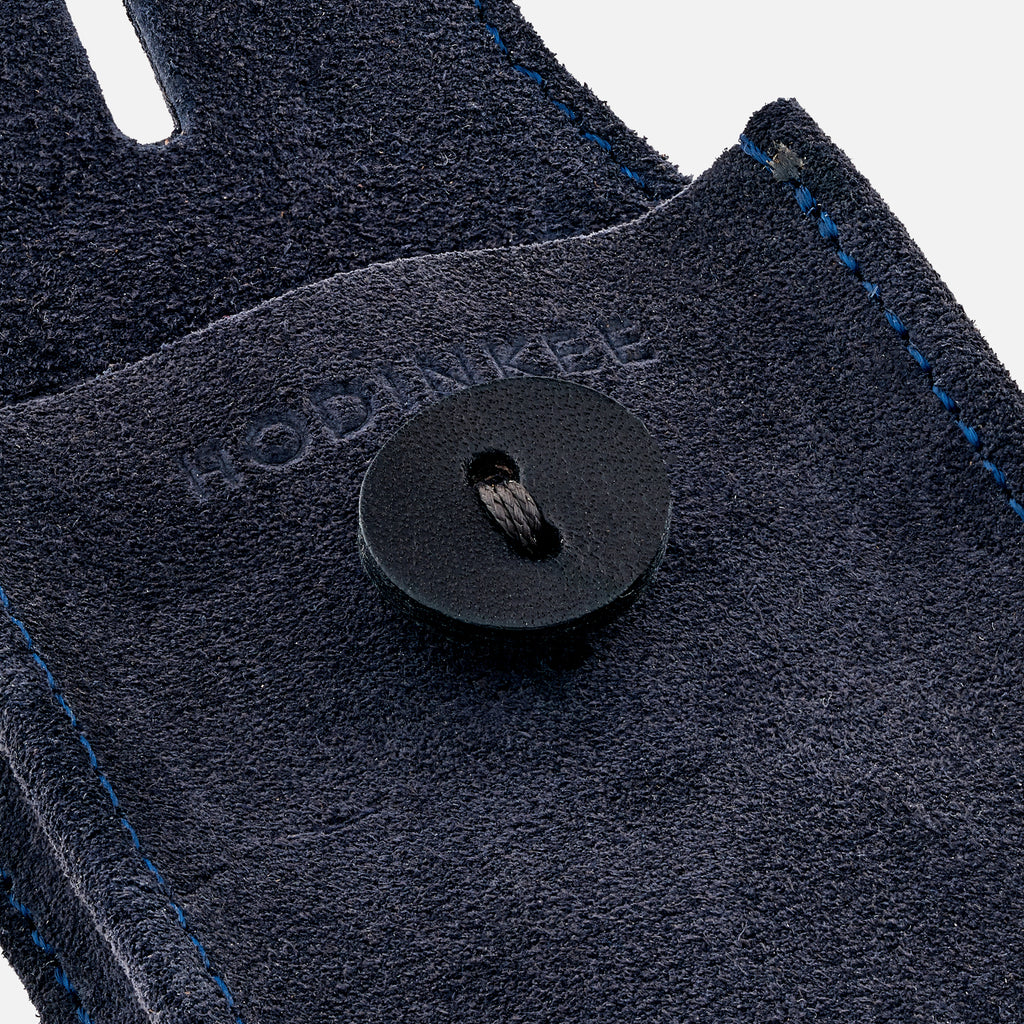 English Suede Mini Watch Pouch In Navy