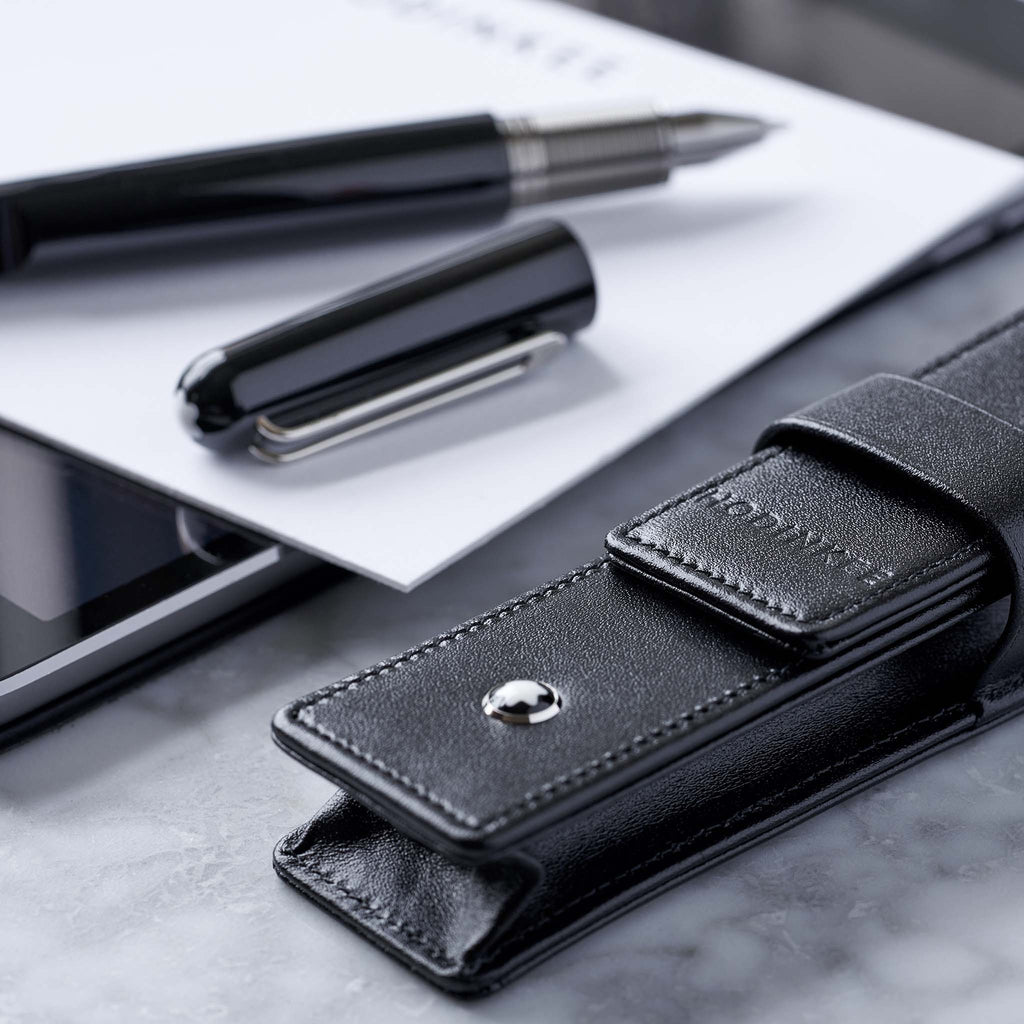 HODINKEE x Montblanc M Rollerball Pen With Leather Pouch