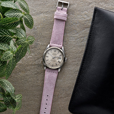 Pale Pink Suede Watch Strap alternate image.