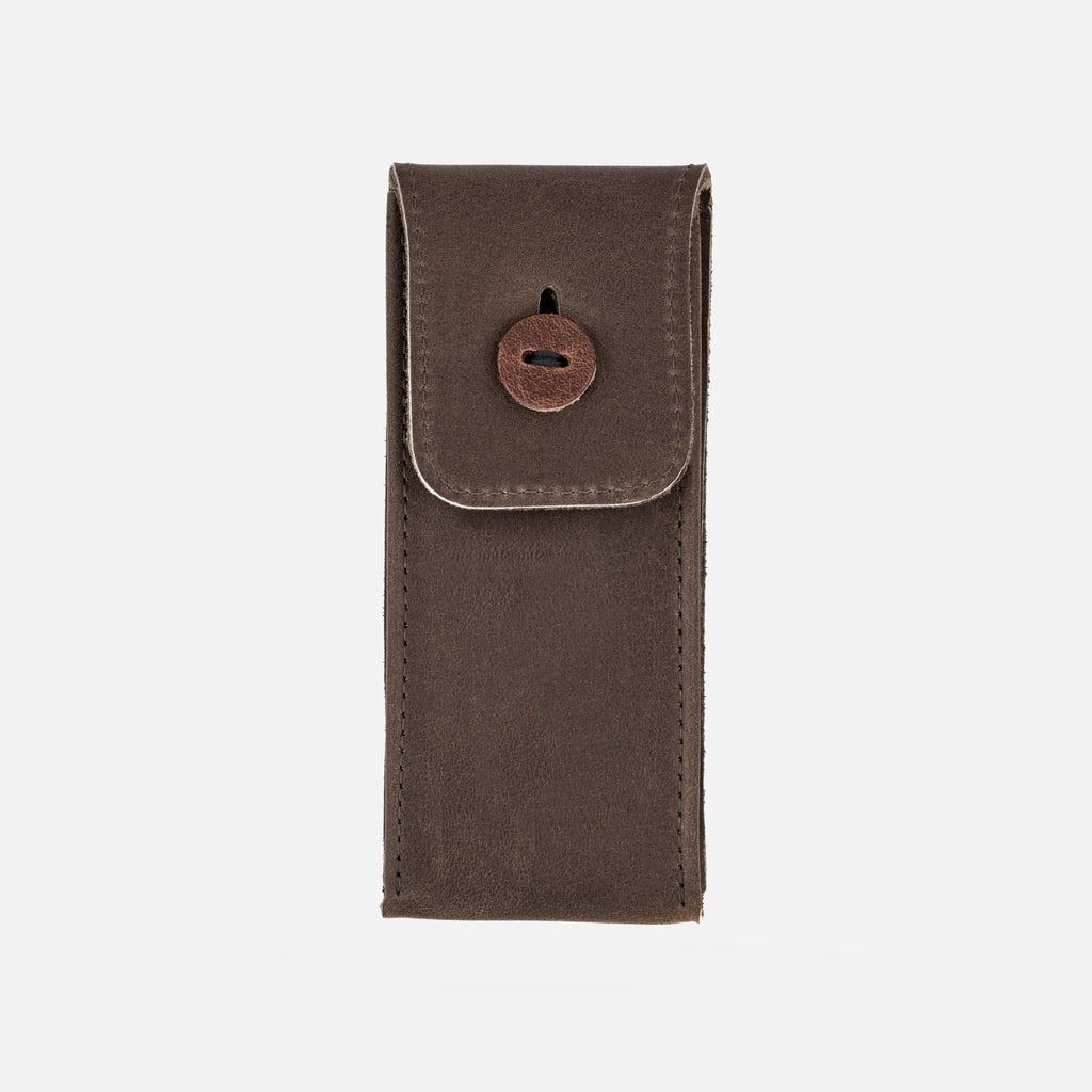 Aged Leather Watch Pouch