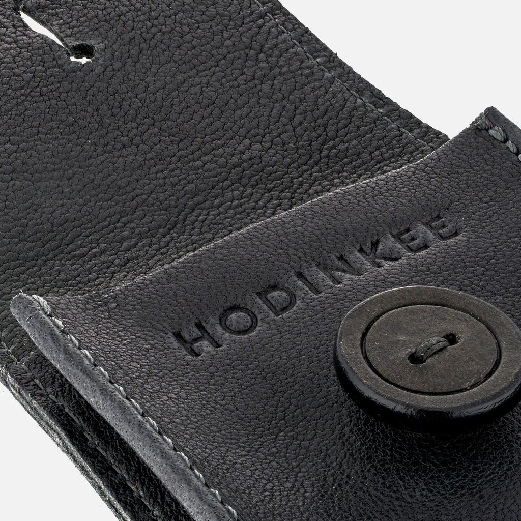 Smooth Leather Watch Pouch In Dark Grey