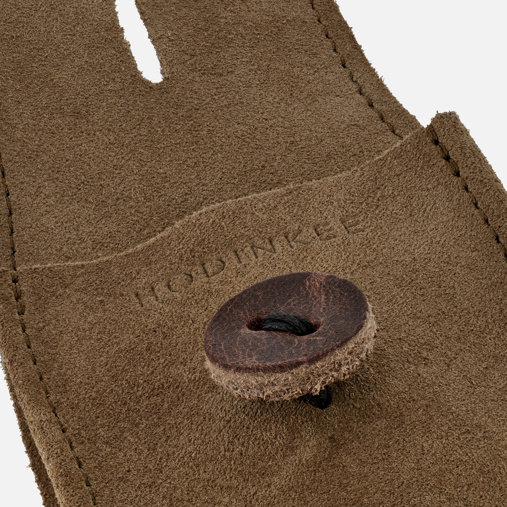 English Suede Watch Pouch In Beige