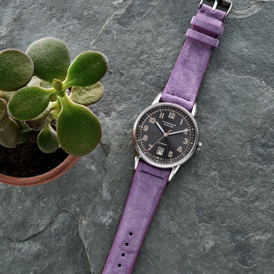 Lilac Suede Watch Strap alternate image.