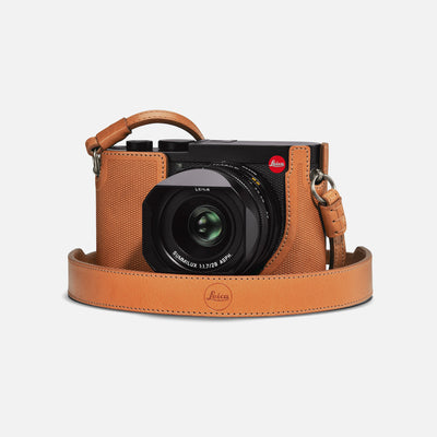 Leica Q2 Camera Carrying Strap In Brown Leather