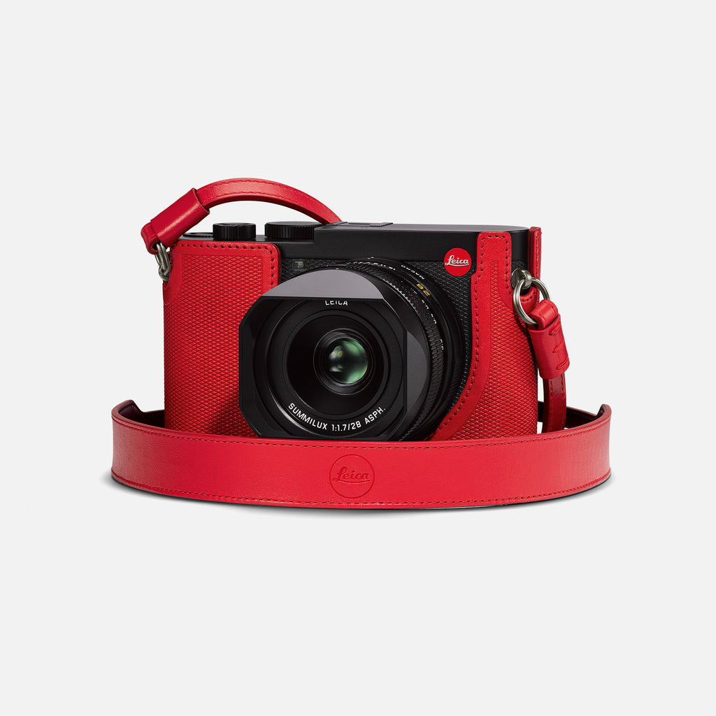 Leica Q2 Camera Carrying Strap In Red Leather