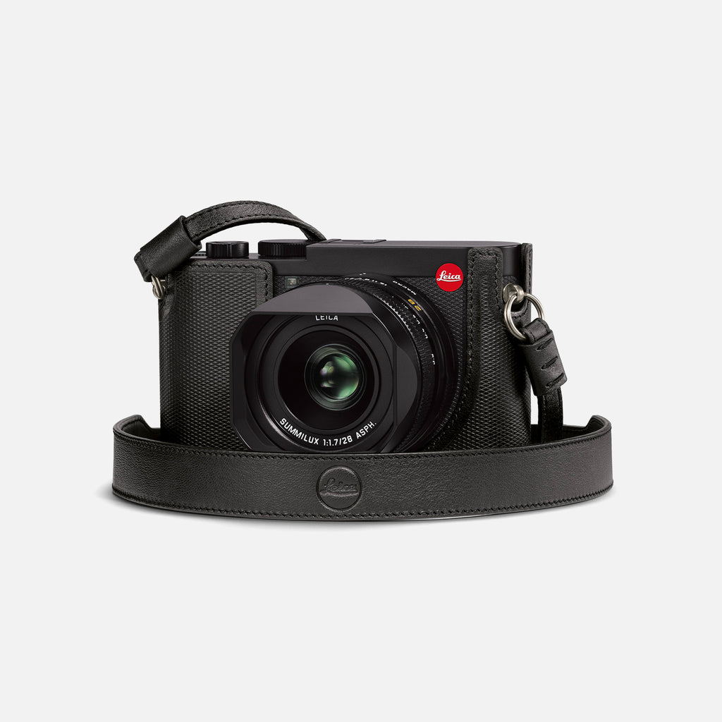 Leica Q2 Camera Carrying Strap In Black Leather