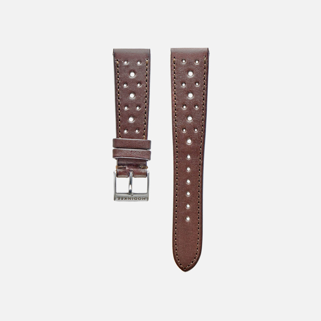 489c2f95d5b Dark Brown Leather Racing Watch Strap - HODINKEE Shop