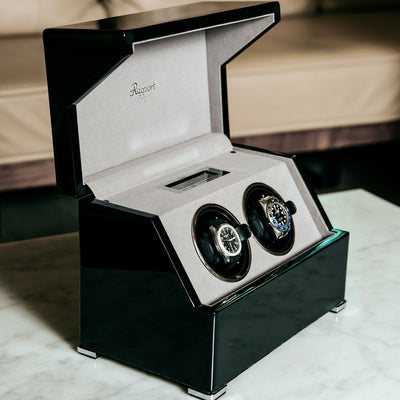 Perpetua III Touch Screen Watch Winder In Black alternate image.