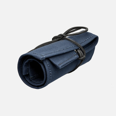 Blue Canvas Roll For Six Watches