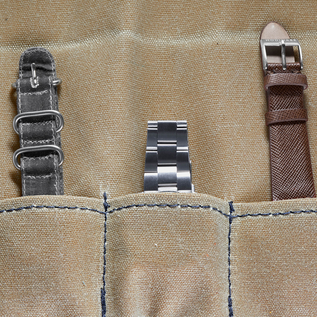 Waxed Canvas Roll For Six Watches