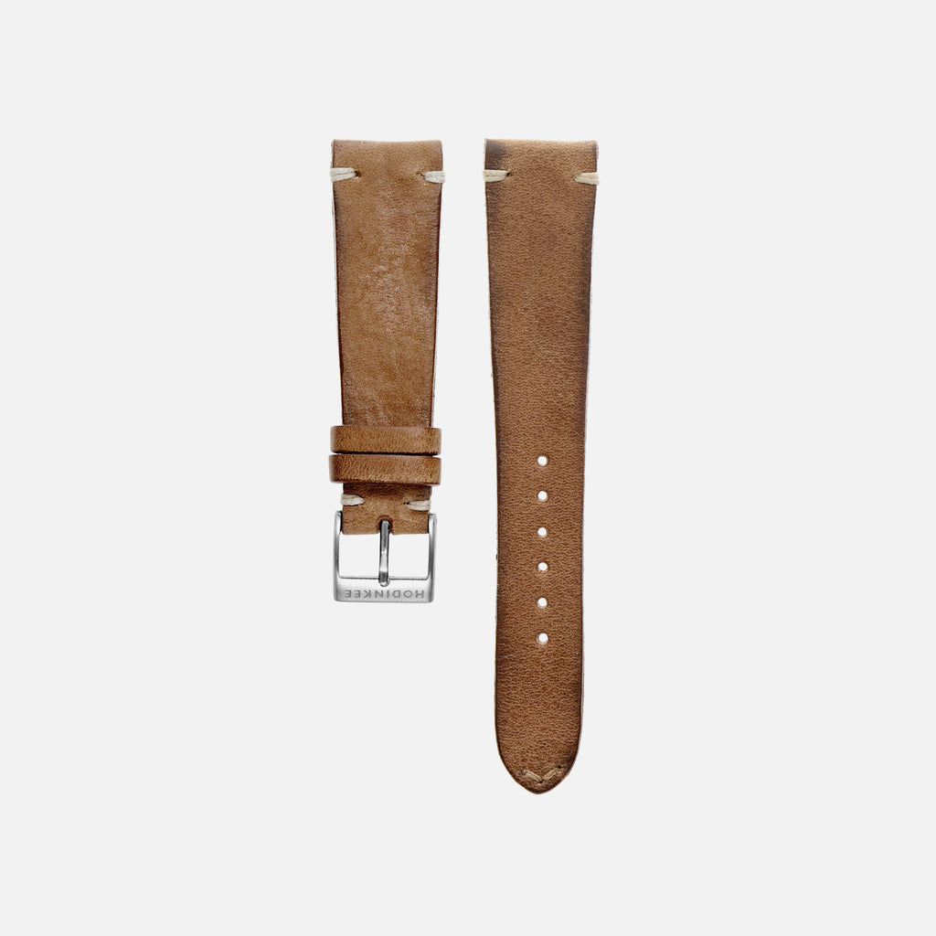 Rustic Brown Leather Watch Strap