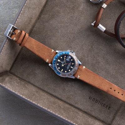 Rustic Brown Leather Watch Strap alternate image.