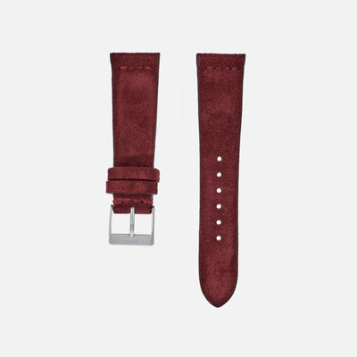 Burgundy Suede Watch Strap