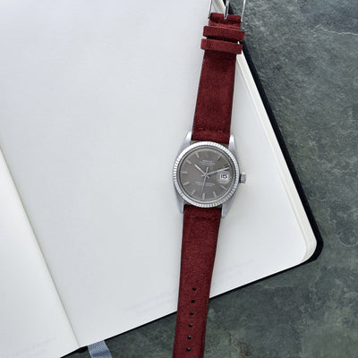 Burgundy Suede Watch Strap alternate image.