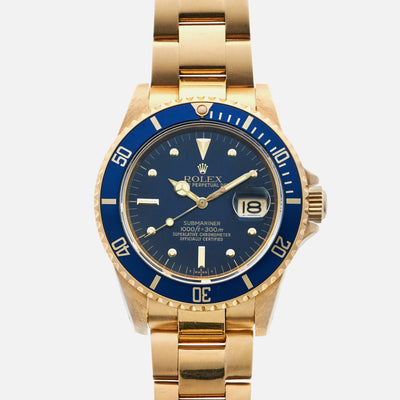 1981 Rolex Submariner Ref. 16808 In 18k Gold