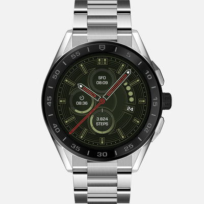 TAG Heuer Connected 45mm SBG8A10 With Steel Case And Ceramic Bezel On Bracelet