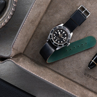 Black Single-Piece Shell Cordovan Watch Strap alternate image.