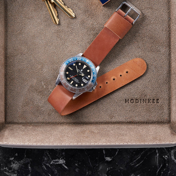 bc075dfd2 Natural Single-Piece Shell Cordovan Watch Strap - HODINKEE Shop