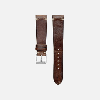Smooth Brown Leather Watch Strap