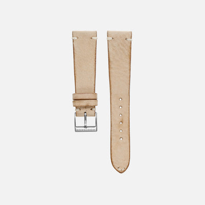 Beige Leather Watch Strap