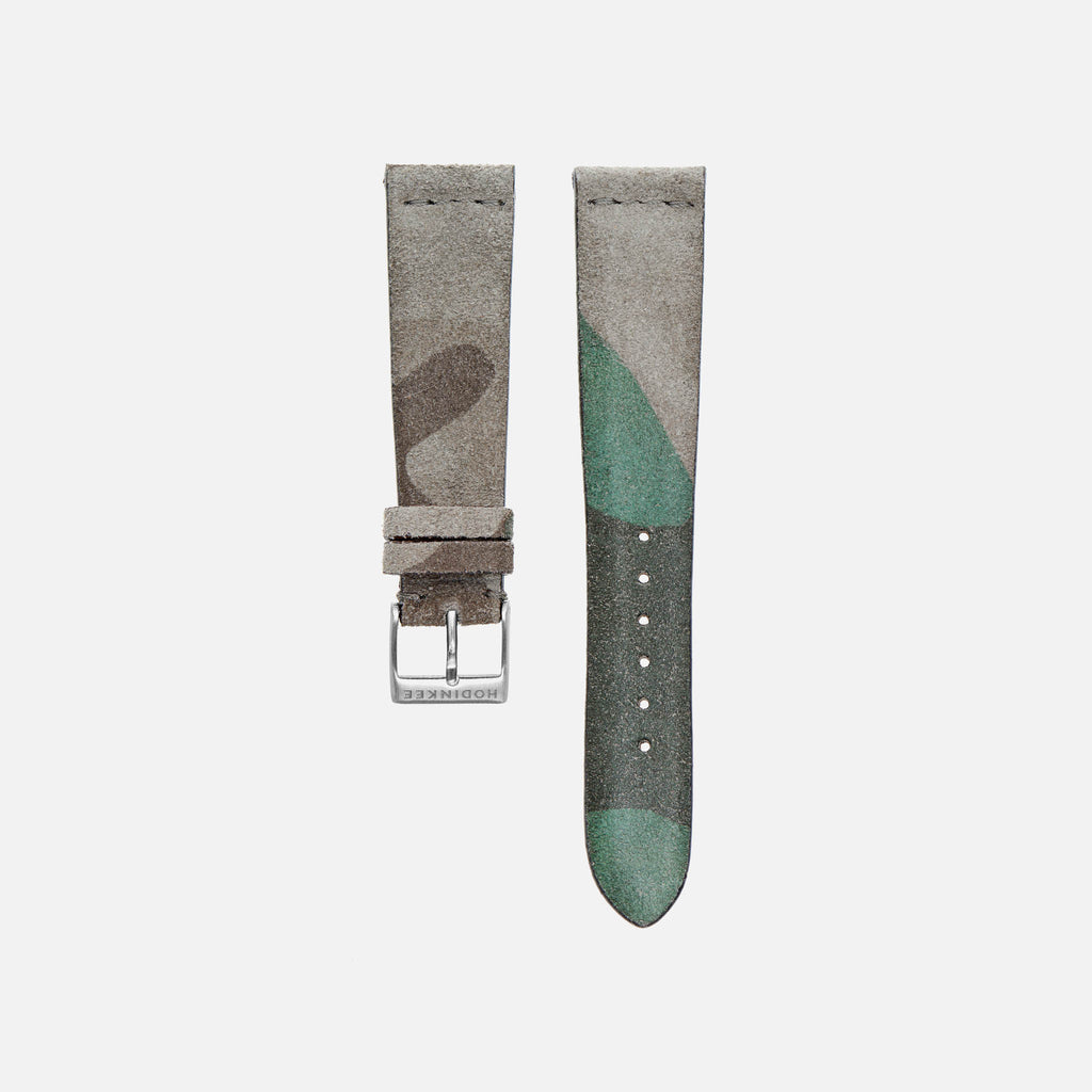 Camouflage Suede Watch Strap