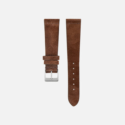 Mid-Brown Suede Watch Strap