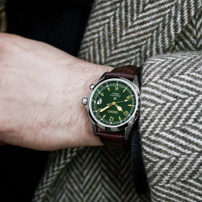 Seiko Prospex 'Alpinist' SPB121 With Green Dial On Brown Strap alternate image.