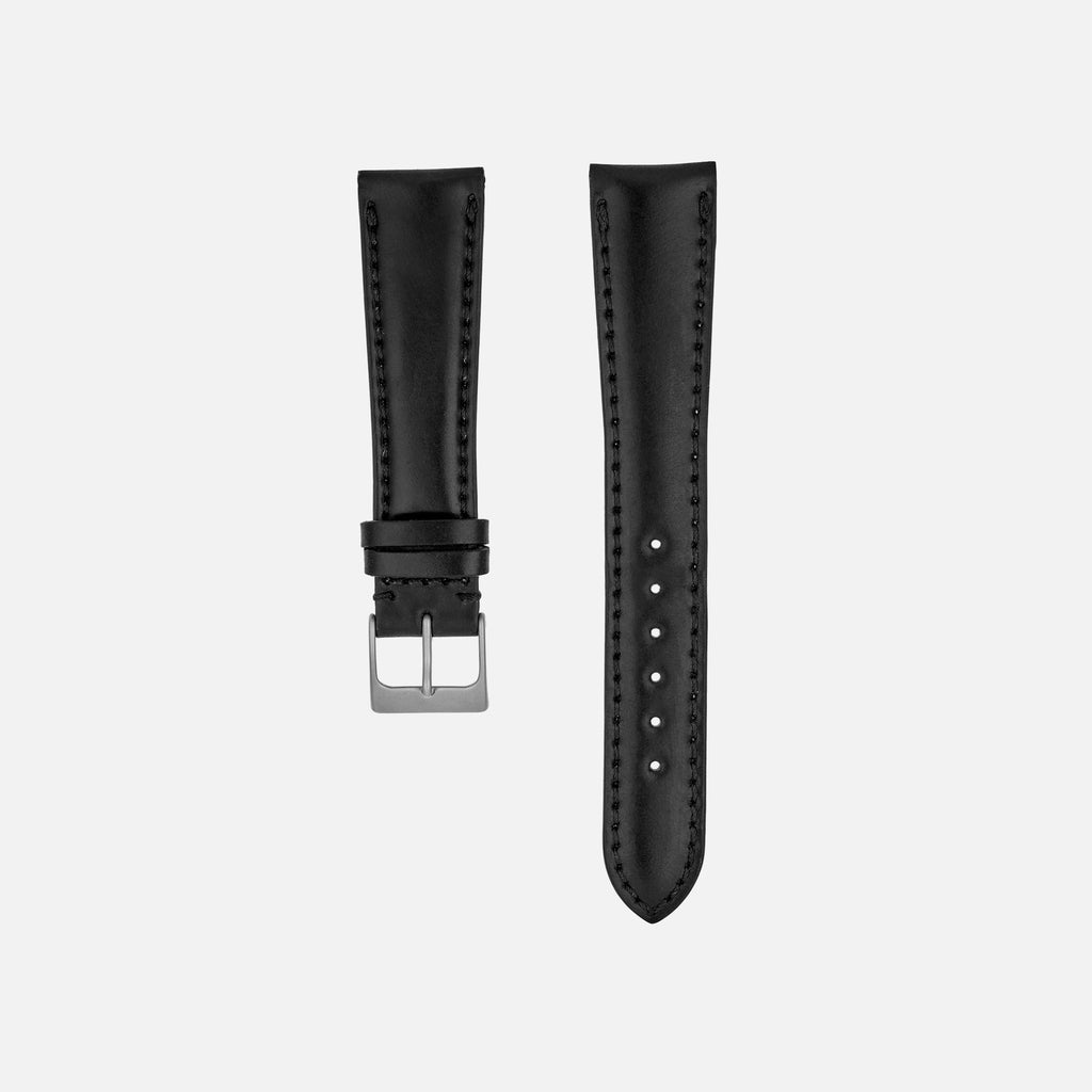 Lined Black Shell Cordovan Watch Strap