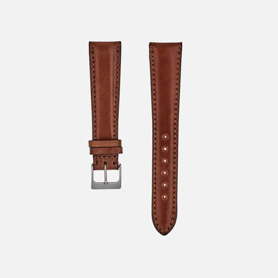 Lined Natural Shell Cordovan Watch Strap