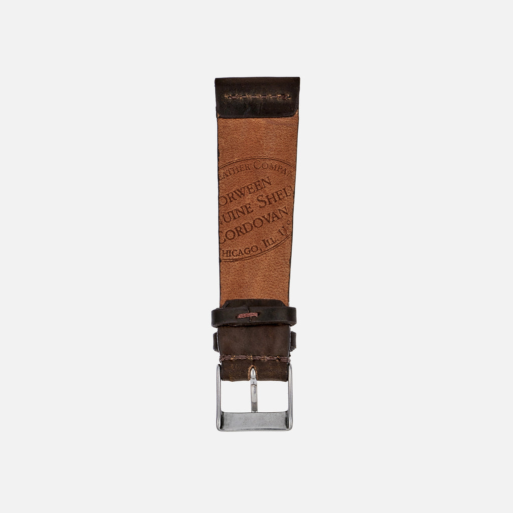 Unlined Color No. 8 Shell Cordovan Watch Strap