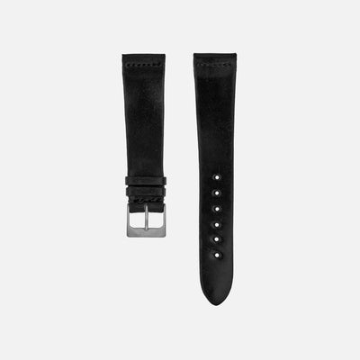 Unlined Black Shell Cordovan Watch Strap