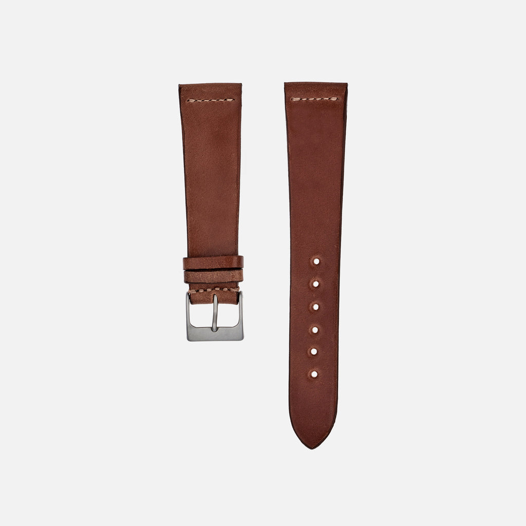 Unlined Natural Shell Cordovan Watch Strap