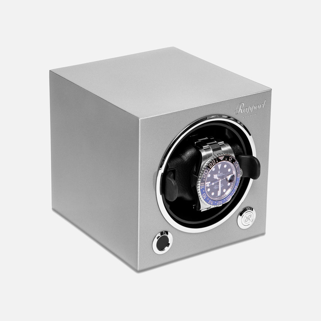 Evo Watch Winder In Platinum Silver