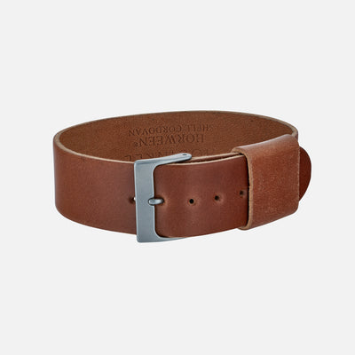 Natural Single-Piece Shell Cordovan Watch Strap