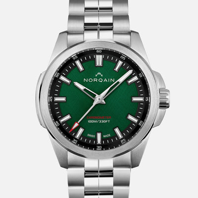 NORQAIN Independence 20 'Scratched Forest Green' Dial On Bracelet Limited Edition