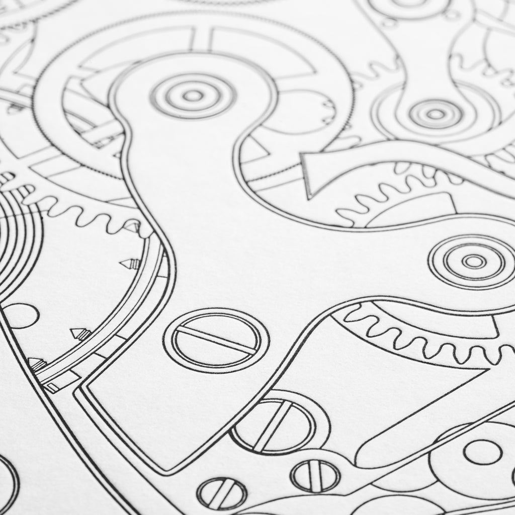 Springs + Gears Valjoux 72 Movement Print