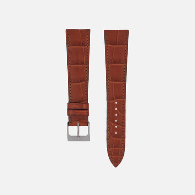 Matte Light Brown Alligator Watch Strap
