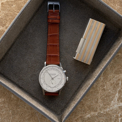 Matte Light Brown Alligator Watch Strap alternate image.