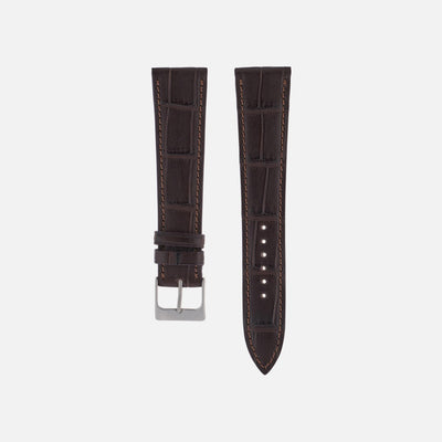 Matte Dark Brown Alligator Watch Strap