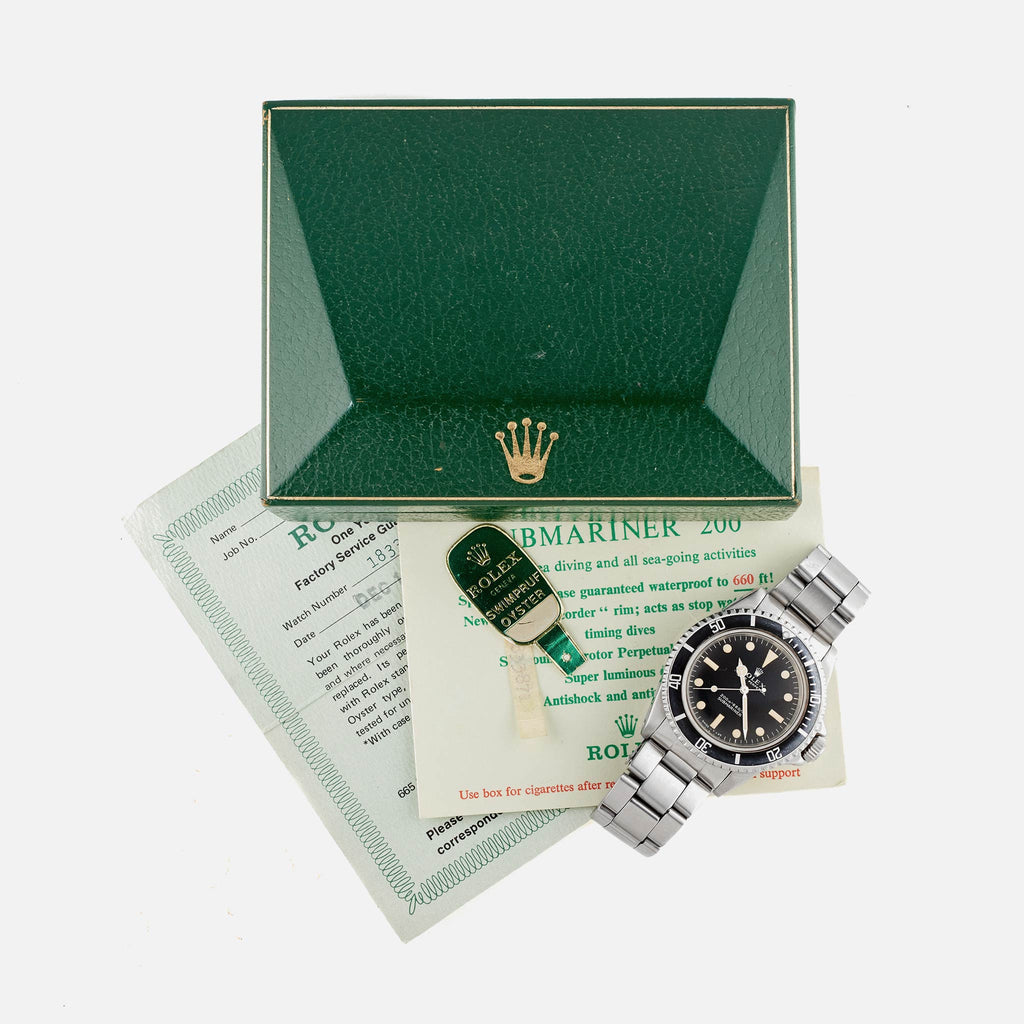 1967 Rolex Submariner Reference 5513 W/ Box & Service Papers