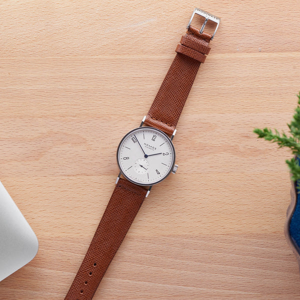 d4eafae78 Brown Textured Leather Watch Strap - HODINKEE Shop