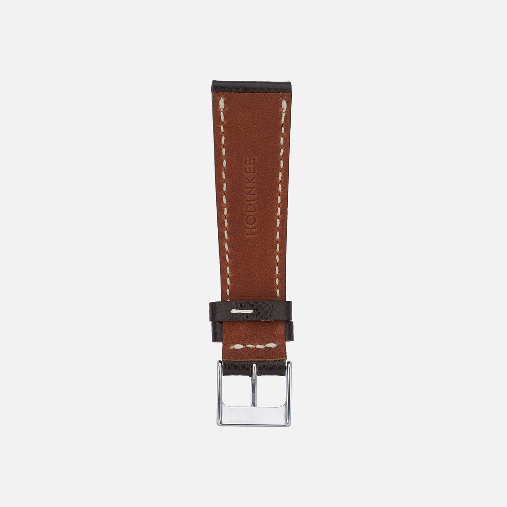 Textured Dark Brown Calfskin Watch Strap