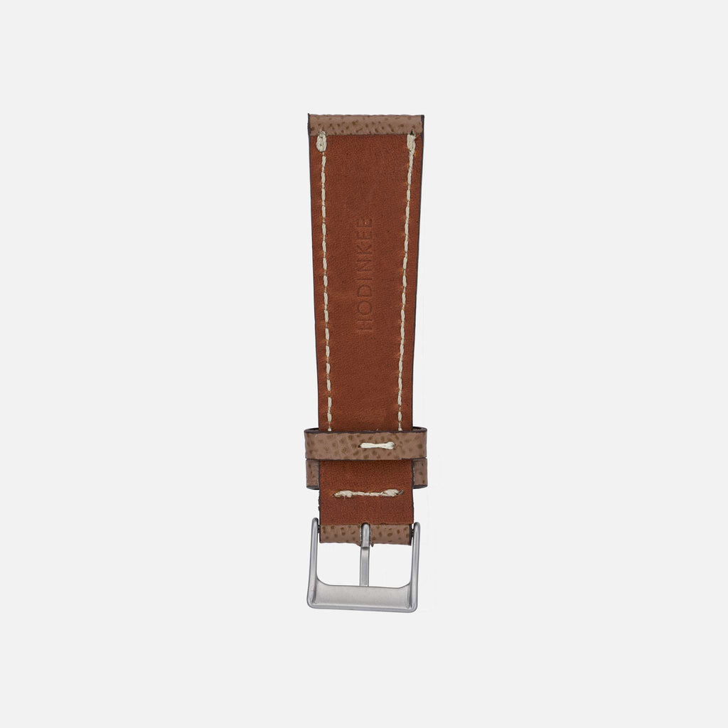 Textured Taupe Calfskin Watch Strap