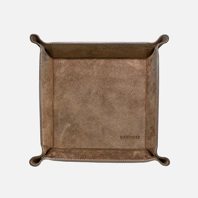 Grey Suede Valet Tray
