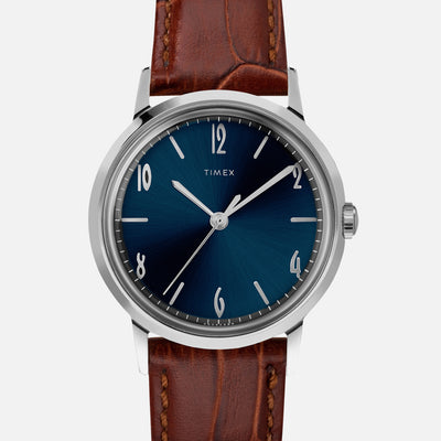 TIMEX Marlin Hand-Wound 34mm With Blue Dial